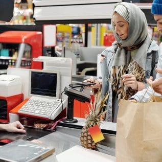 caisse du supermarché