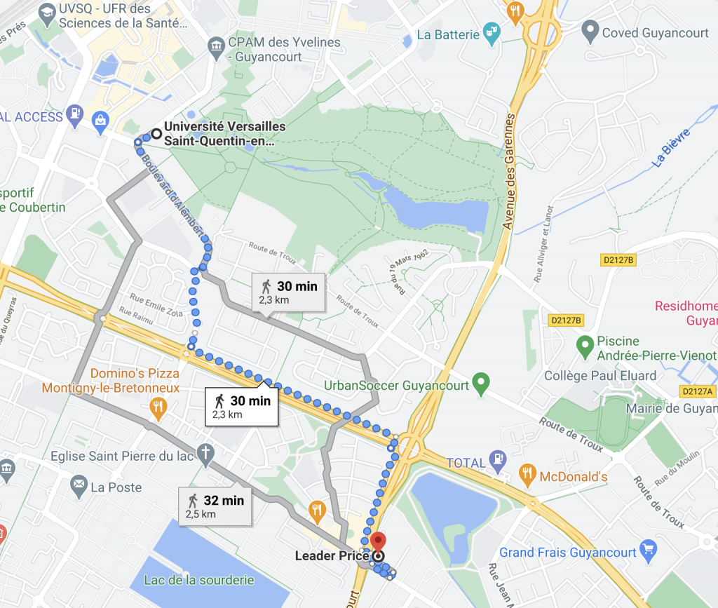google maps leader price guyancourt