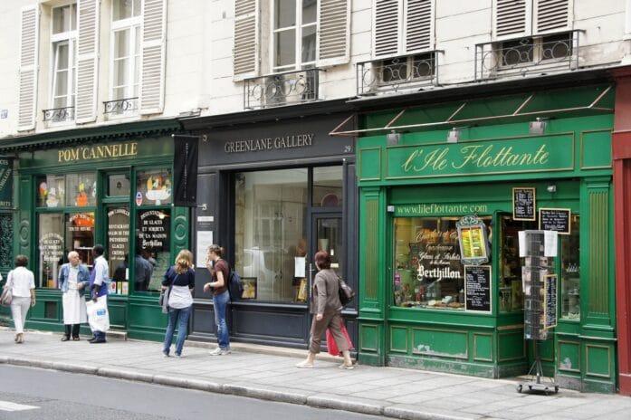Boutiques à paris