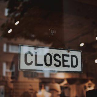Panneau closed