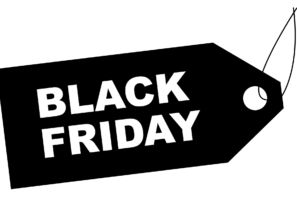 étiquette black friday