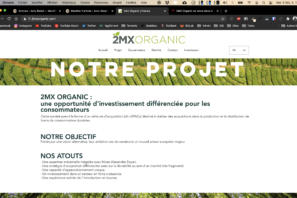 Screenshot du site 2MX Organic