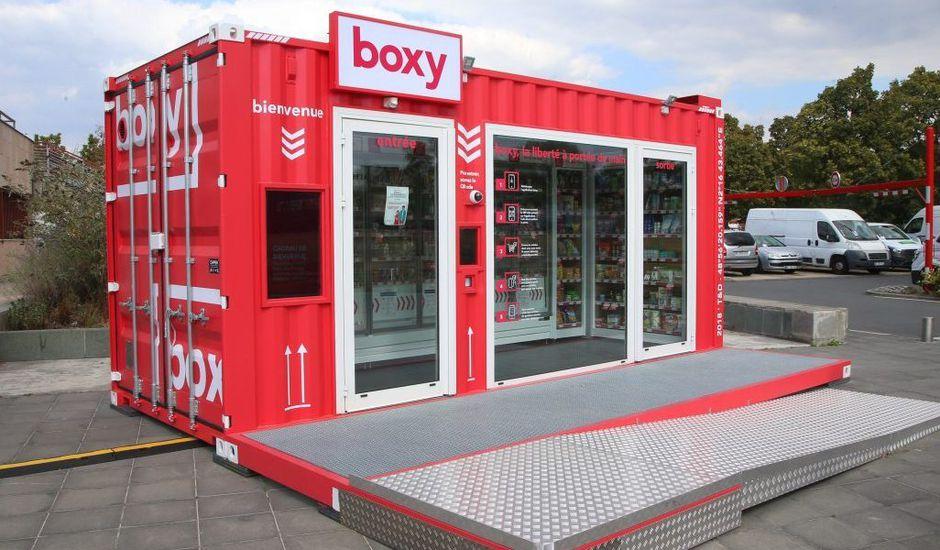 Un magasin autonome Boxy de la société Storelift