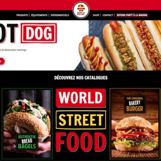 Capture du site web Manhattan Hot Dog