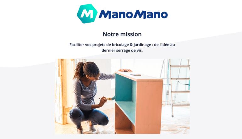 Capture du site web ManoMano