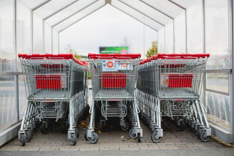 Caddies de supermarché